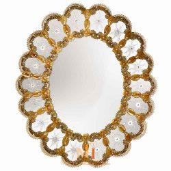 miroir rond design salon