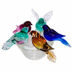 murano glass bird sculptures