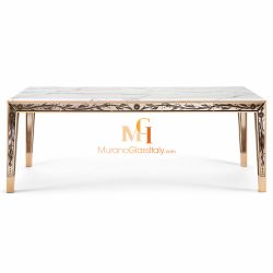 marble and glass dining table