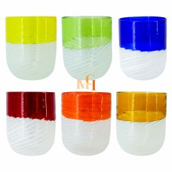 hand blown water glasses