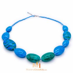 murano glass collier