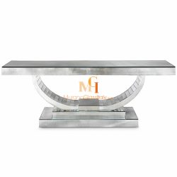 art deco venetian mirrored console table