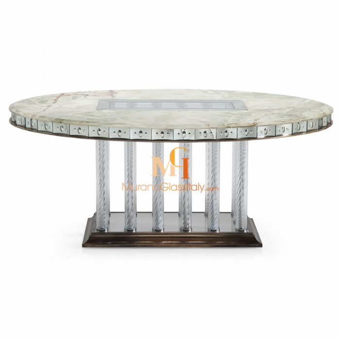 table ronde en verre design