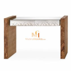 oak and glass console table