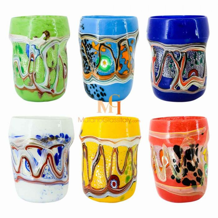 murano drinking glasses made in italy