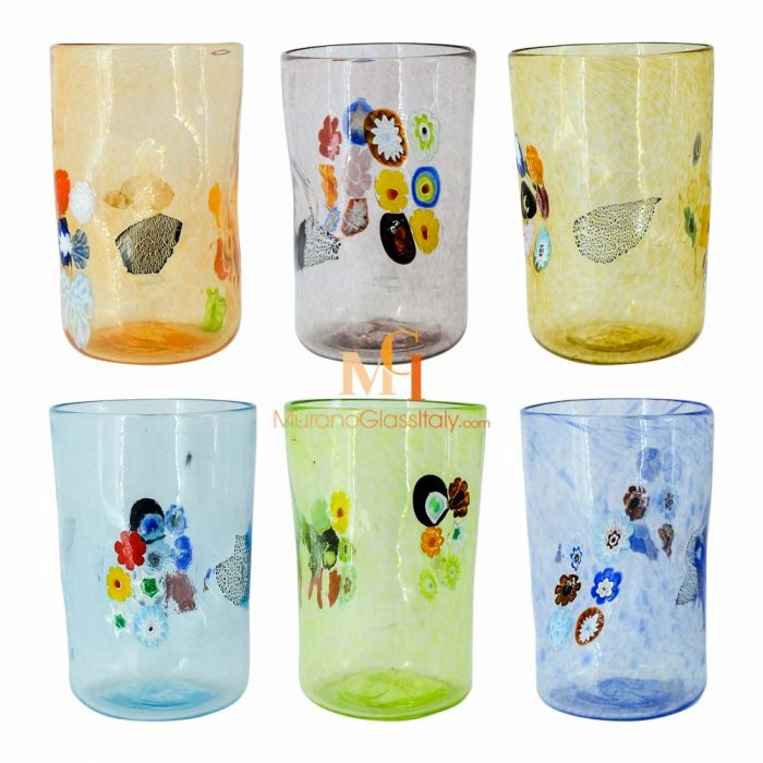 murano style drinking glasses