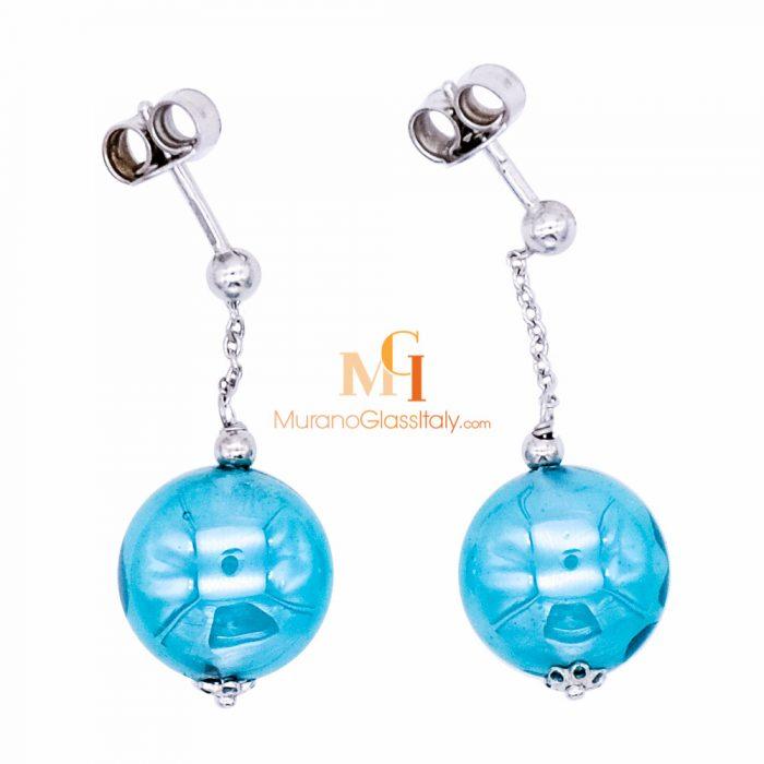 murano glass stud earrings