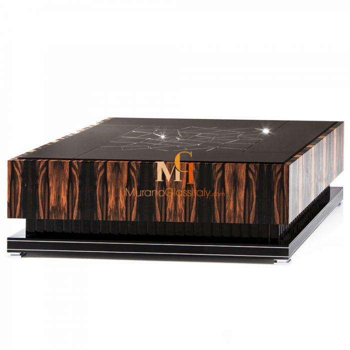 table basse verre design luxe
