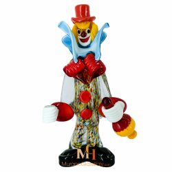 glass clown figurines