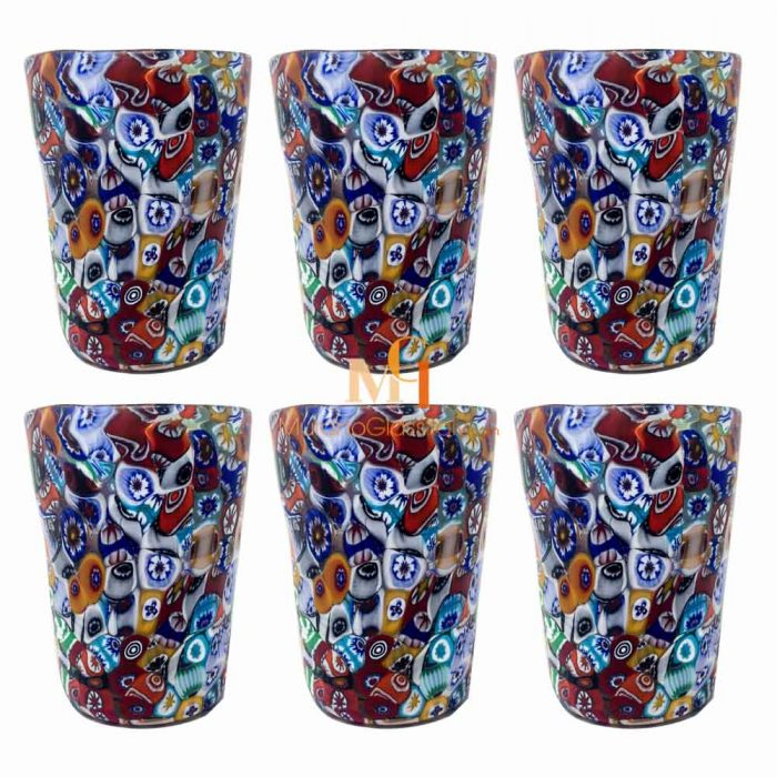 coloured glass drinking glasses