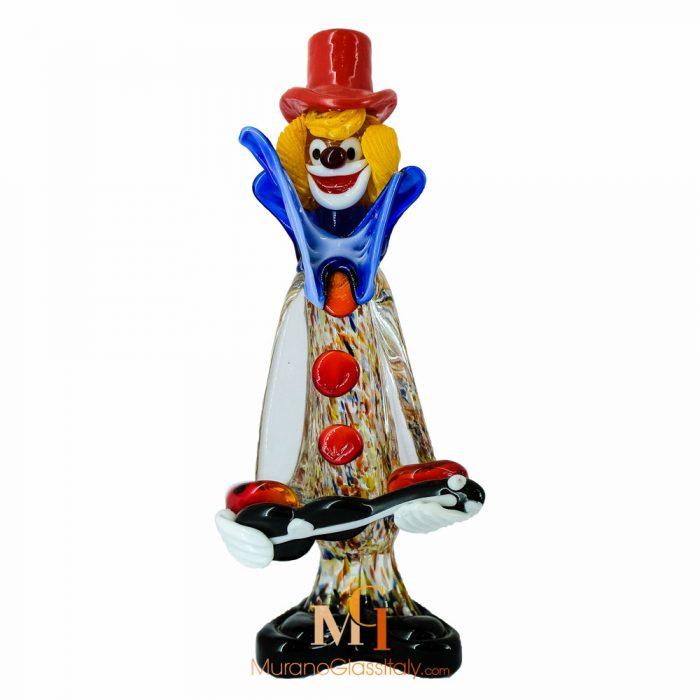 murano clown figurines