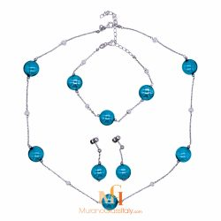 Murano Glass Necklace And Earrings