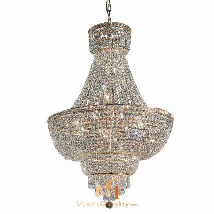 oversized crystal chandeliers