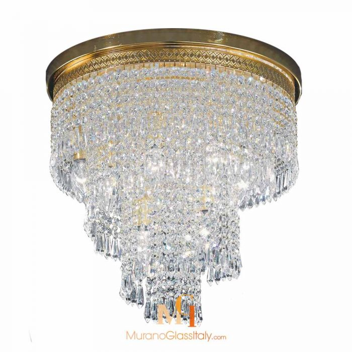 crystal glass ceiling lights